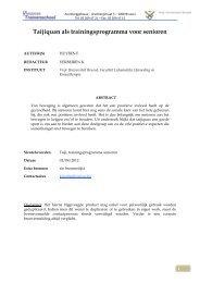 VUB - Tajiquan als trainingsprogramma voor senioren, in pdf ... - Bloso