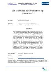 KU Leuven - Een tekort aan zuurstof: effect op spiermassa? - Bloso