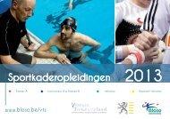 brochure Sportkaderopleidingen 2013 - Bloso