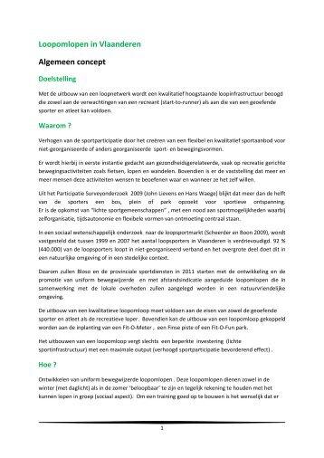 Algemeen concept van de Vlaamse Loopomloop, in pdf, 237 ... - Bloso