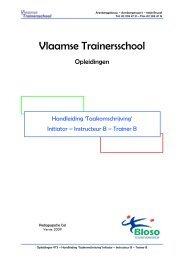 Vlaamse Trainersschool - Bloso