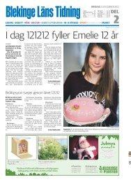 I dag 121212 fyller Emelie 12 år