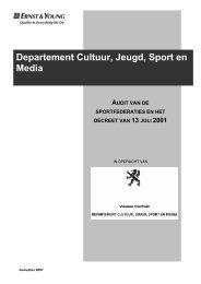 Departement Cultuur, Jeugd, Sport en Media - Bloso