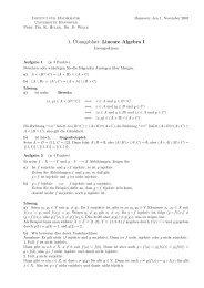 1. ¨Ubungsblatt: Lineare Algebra I