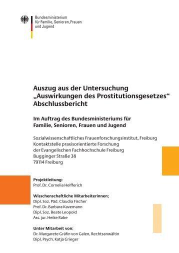 Auswirkungen des Prostitutionsgesetzes - Bundesministerium für ...