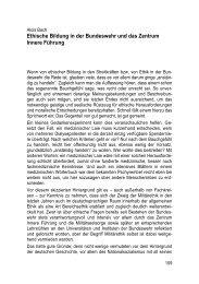 Ethische Bildung in der Bundeswehr und das Zentrum Innere Führung