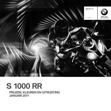 Prijslijst S 1000 RR - BMW Nederland