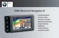 BMW Motorrad Navigator IV benutzerhandbuch - BMW Italia Moto