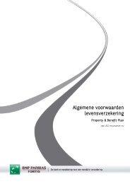Algemene voorwaarden levensverzekering - BNP Paribas Fortis