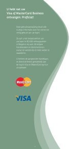 Brochure Visa and MasterCard Business - BNP Paribas Fortis - Page 2