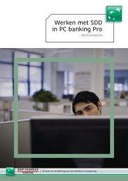Werken met SDD in PC banking Pro - BNP Paribas Fortis