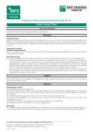 financiële infofiche - BNP Paribas Fortis