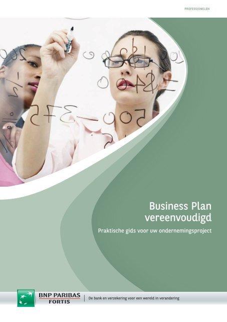 Business Plan vereenvoudigd - BNP Paribas Fortis