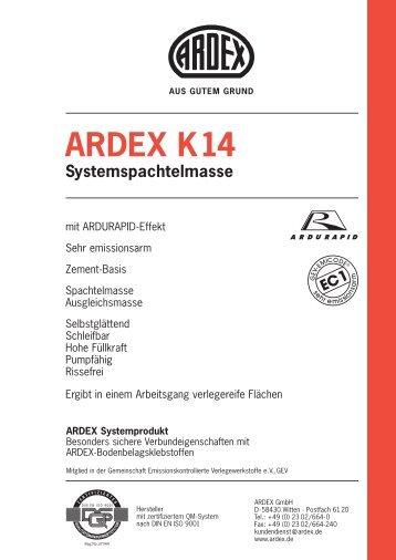 ARDEX K14 Systemspachtelmasse