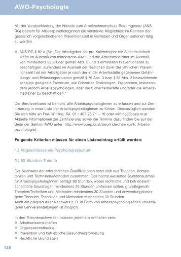 Awo Psychologie Arbeitsrecht Für Psychologinnen Böp