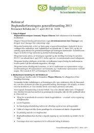Generalforsamling den 17. april 2013 i København