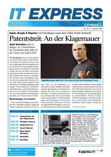 Patentstreit: An der Klagemauer - Boerse Express