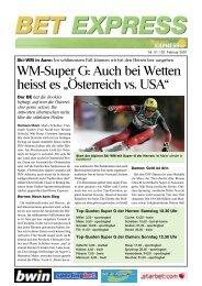 WM-Super G: Auch bei Wetten heisst es ... - Boerse Express