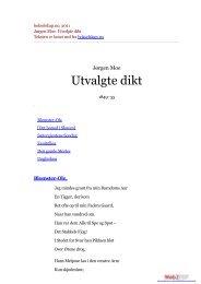 bokselskap.no, 2011 Jørgen Moe: Utvalgte dikt
