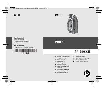 WEU WEU PDO 6 - Bosch Elektrowerkzeuge für Heimwerker