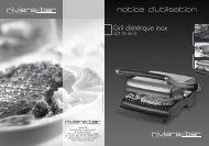 Gril diététique inox notice d'utilisation - Boulanger