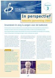 Selectie jaarverslag 2002 - In Perspectief 3 - College bouw ...