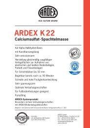 ARDEX K22 Calciumsulfat-Spachtelmasse