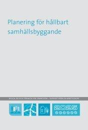 Planering för hållbart samhällsbyggande - Boverket