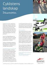 Dokumentation Cyklistens landskap - Boverket