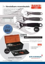 3 x Verstelbare moersleutels PLUS 35% - Brammer