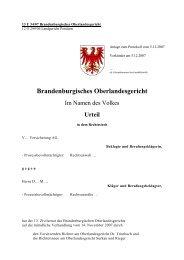 13 U 34/07 Brandenburgisches Oberlandesgericht - Brandenburg.de