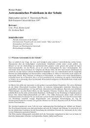 Astronomisches Praktikum in der Schule - AM BRG Kepler