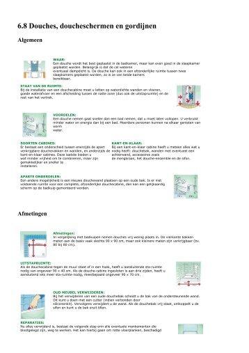 6.8 Douches, doucheschermen en gordijnen - Brico