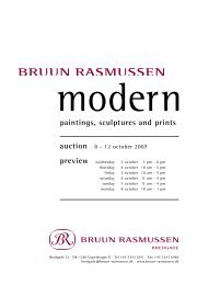 paintings, sculptures and prints - Bruun Rasmussen