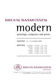 paintings, sculptures and prints - Bruun Rasmussen