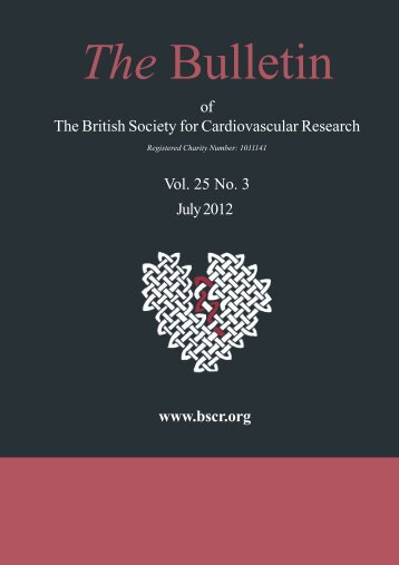 of The British Society for Cardiovascular Research Vol. 25 No. 3 July ...