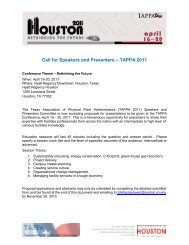 Call for Speakers and Presenters – TAPPA 2011