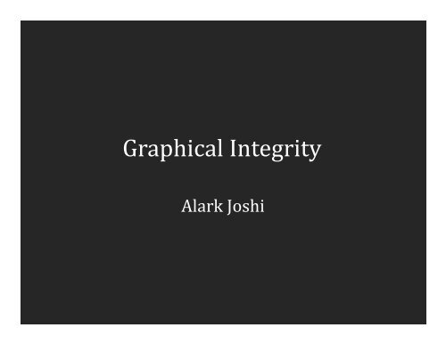 Graphical Integrity