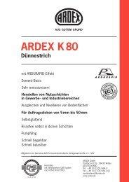 ARDEX K 80 Dünnestrich