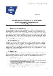 Industriell ekonomi och management - Blekinge Tekniska Högskola