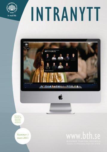 Länk till Intranytt som PDF (öppnas i nytt fönster) - Blekinge Tekniska ...