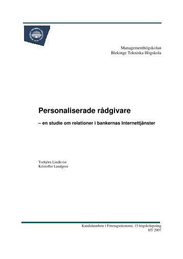 lindkvist-lundgren 2008-01-15 or….pdf - Blekinge Tekniska Högskola