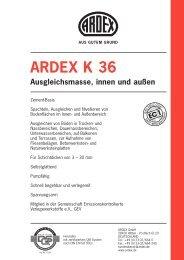 ARDEX K 36 Ausgleichsmasse, innen und außen