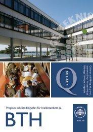 Program och handlingsplan för kvalitetsarbete - Blekinge Tekniska ...
