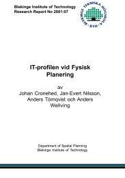 IT-profilen vid Fysisk Planering - Blekinge Tekniska Högskola
