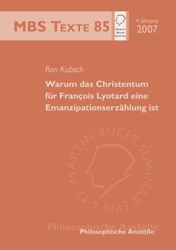 Untersuchung - Martin Bucer Seminar