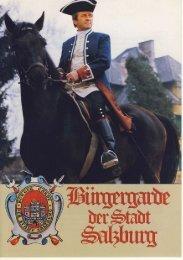 Erinnerungsmedaille - Bürgergarde der Stadt Salzburg