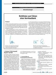 Richtlinien zum Führen einer Hornhautbank - Bundesärztekammer