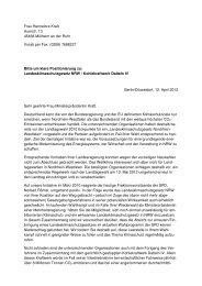 Klimaschutz-Check: Anschreiben und Antworten NRW-Parteien - Bund