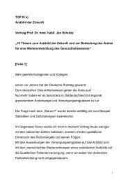 """""""10 Thesen zum Arztbild der Zukunft und zur Bedeutung des Arztes ..."""